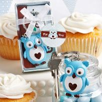 Cute Little Blue Owl Key Ring Favours